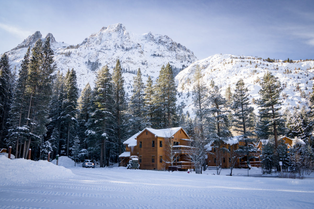 This is an image of a cabin for rent at the Double Eagle Resort and Spa in June Lake, California.