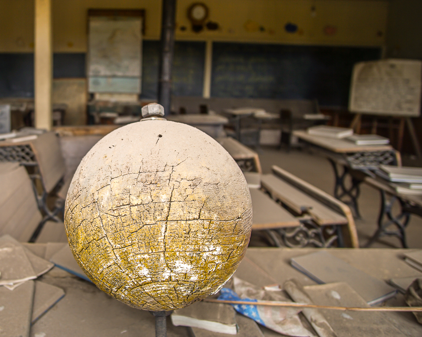 Old Globe from a School in Bodie(