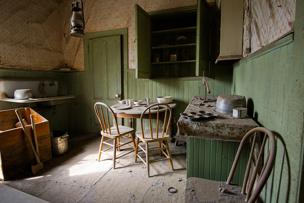 The Kitchen in an Abandoned Home in Bodie