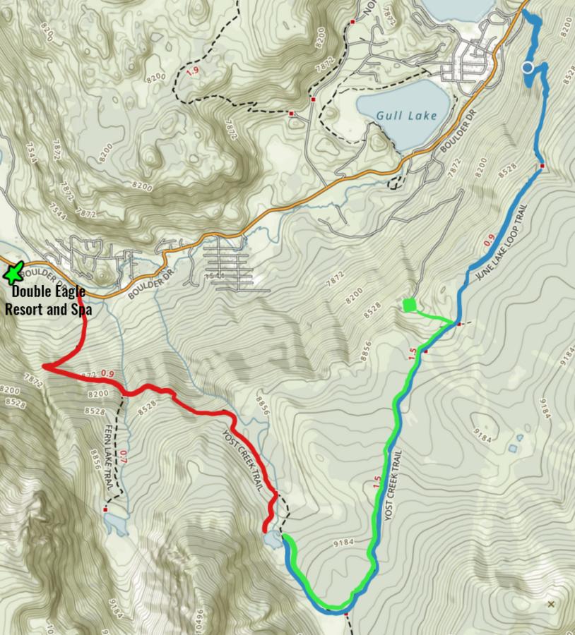 Yost Lake Trail Map
